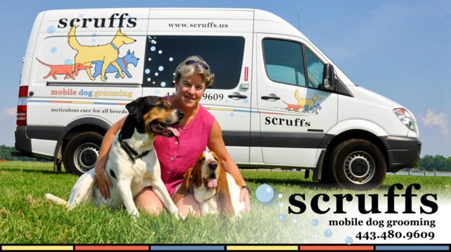 scruffs Mobile Dog Grooming Logo